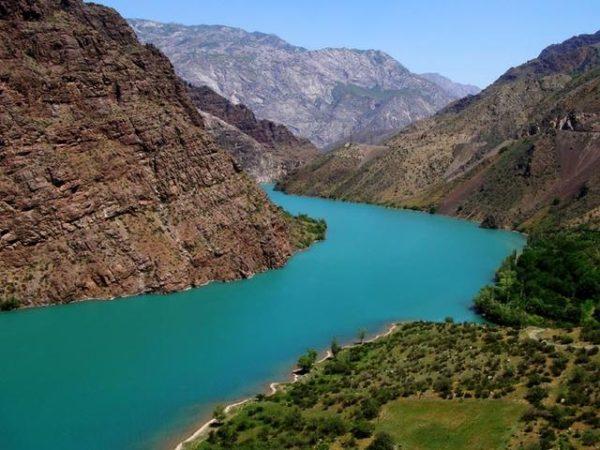 Naryn river after Toktogul damm